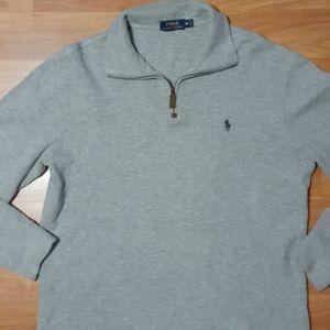 Gray quarter-zip pullover by Polo Ralph Lauren